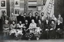 Валерий Моругин среди коллектива ХБК